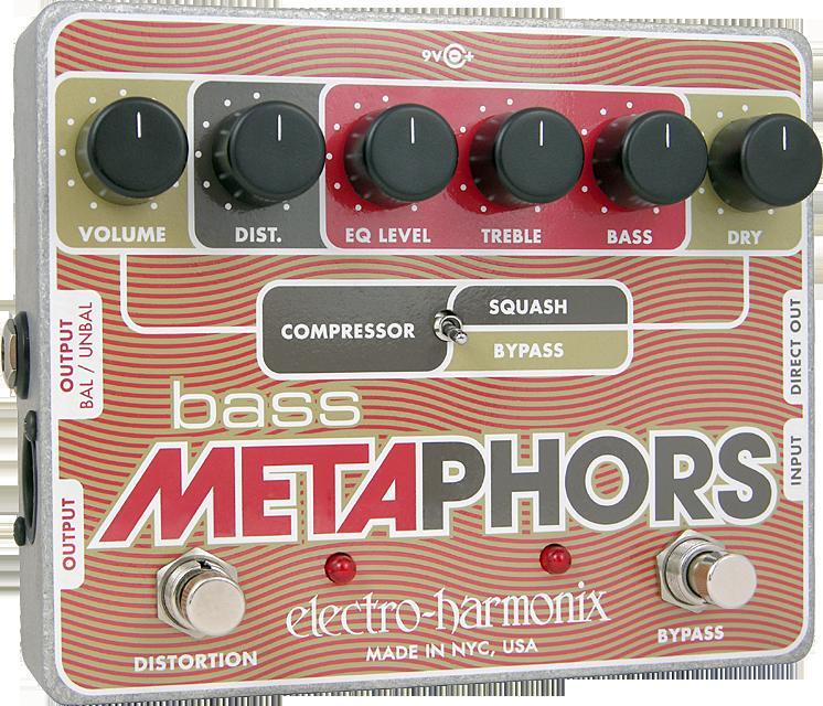 【正規品】electro-harmonix Bass Metaphors 新品 ベースメタファー[エレクトロハーモニクス][Distortion,ディストーション][Compressor,コンプレッサー][Preamplifier,プリアンプ][DI,ダイレクトボックス][Effector,エフェクター]