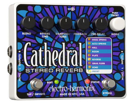 【正規品】electro-harmonix Cathedral 新品 ステレオリバーブ[エレクトロハーモニクス][カテドラル][Stereo Reverb][Effector,エフェクター]