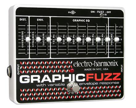 【正規品】electro-harmonix Graphic Fuzz 新品 グラフィックファズ[エレクトロハーモニクス][Equalizer,イコライザー][Effector,エフェクター]