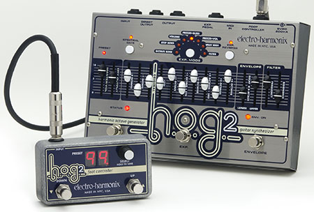 Electro-Harmonix H.O.G.2 & private foot roller set brand new guitar synthesizer [stompbox] and [HOG2] Guitar Synthesizer effects [Effector]