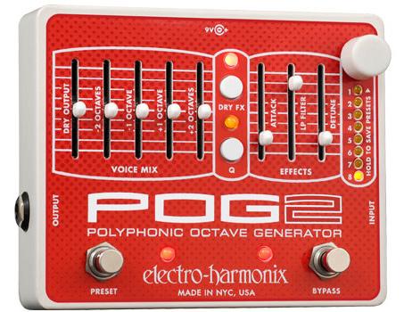 希少 正規品 electro-harmonix POG2 新品 ポリフォニック オクターブ ジェネレーター 品質検査済 オクターバー ポグ2 Octaver Effector エレクトロハーモニクス エフェクター