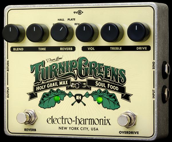 【純正アダプター付属】【正規品】electro-harmonix Turnip Greens 新品 歪み/空間系ペダル[エレクトロハーモニクス][ターニップグリーンズ][Soul Food][Holy Grail Max][Overdrive,Distortion][Reverb][Effector,エフェクター]