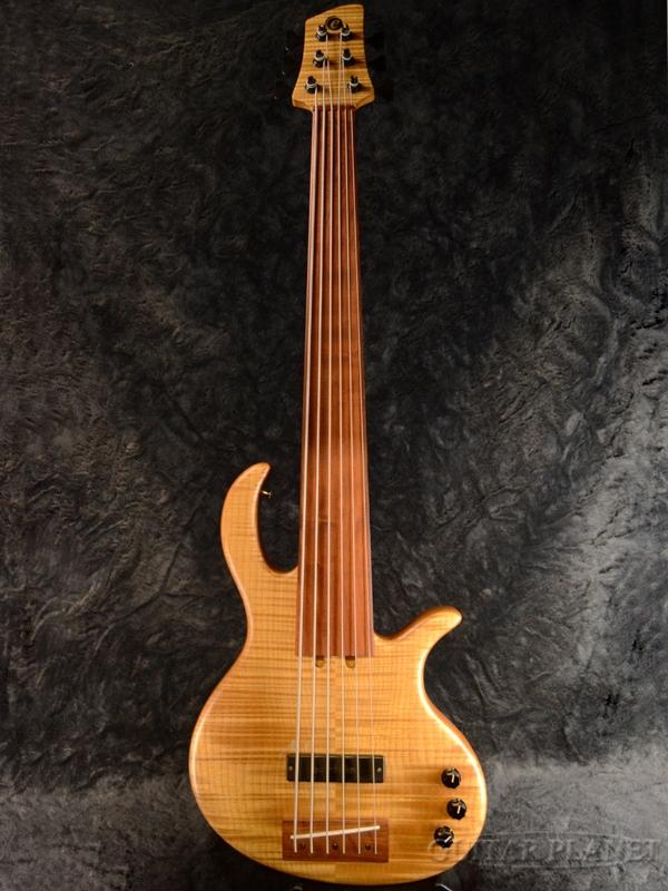 【中古】Elrick Platinum Series Hybrid Semi Hollow Classic 6st Fretless 2004年製[エルリック][ナチュラル][フレットレス][6strings,6弦][Electric Bass,エレキベース]【used_ベース】