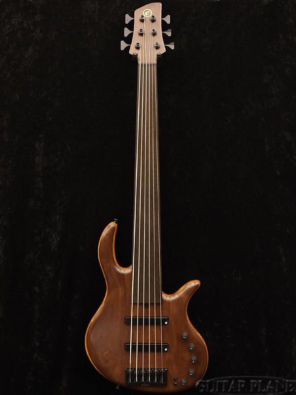 正規品 elrick Gold Series e-volution 6 Fretless -Katalox & Mahogany- 新品[エルリック][ゴールドシリーズ][エボリューション][フレットレス][6strings,6弦][Electric Bass,エレキベース], ヤハバチョウ d2b7e7d7