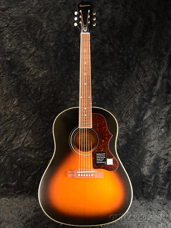 【トップ単板仕様】Epiphone 1963 AJ-45S 新品 Vintage Sunburst Satin[エピフォン][サンバーストサテン][Acoustic Guitar,アコースティックギター]