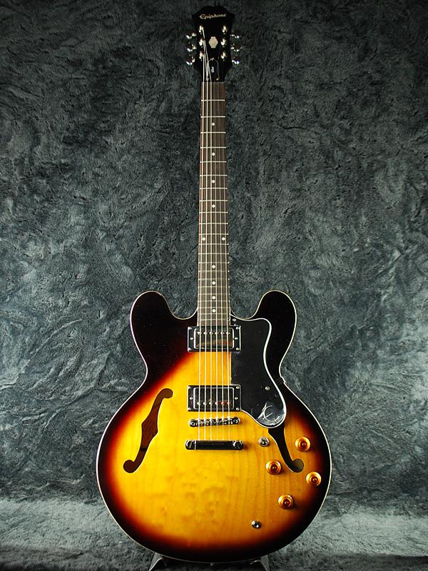 【ERNIE BALL4点セット付】Epiphone Dot 新品 ヴィンテージサンバースト[エピフォン][VS,Vintage Sunburst][セミアコ][エレキギター,Electric Guitar]_15t