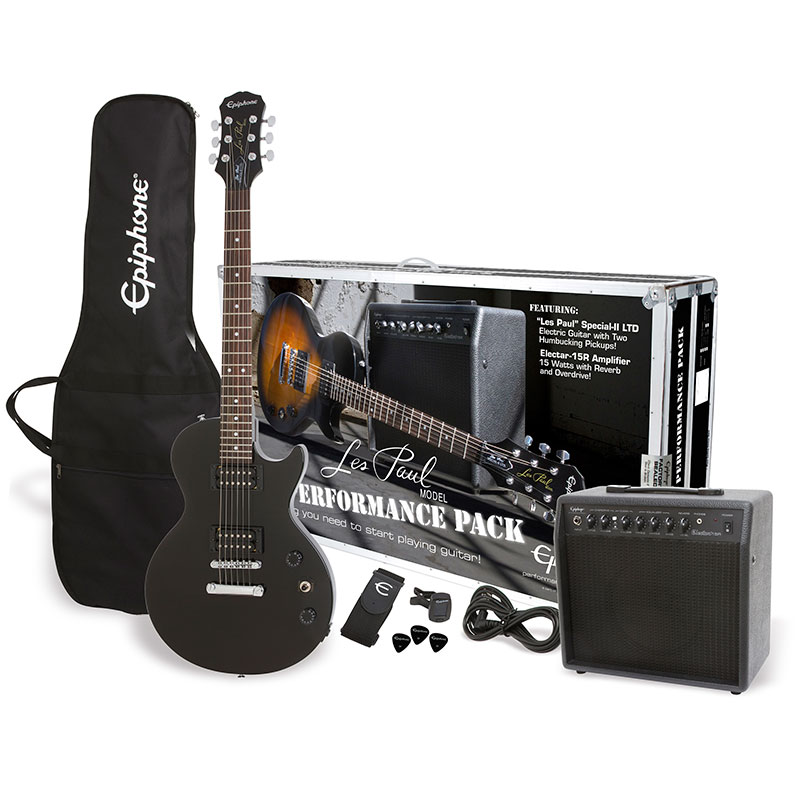 Guitar Planet Brand New Epiphone Performance Pack Les Paul