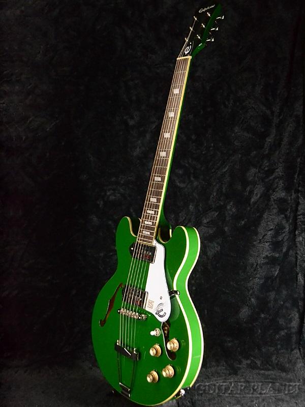 Epiphone 限量版赌场轿跑车因弗内斯绿色品牌新 [Epiphone],[赌场] [跑车] [因弗内斯,绿色],[斯迈克/高炮] [电吉他、 电吉他]