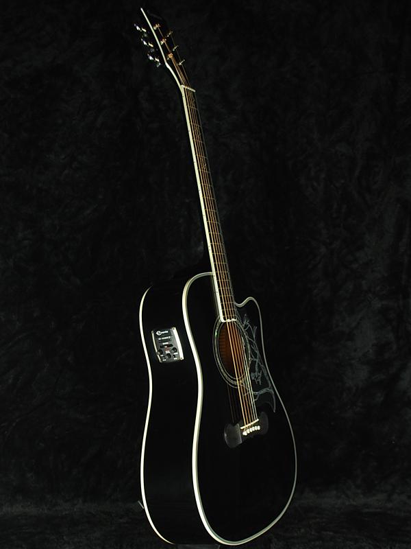 Epiphone Dave Navarro Signature brand new ebony [Epiphone] and [Dave Navarro] [red hot chili peppers, reptile, Hummingbird, Hummingbird [Ebony, Black, black, black, acoustic-electric guitars, Acoustic Guitar