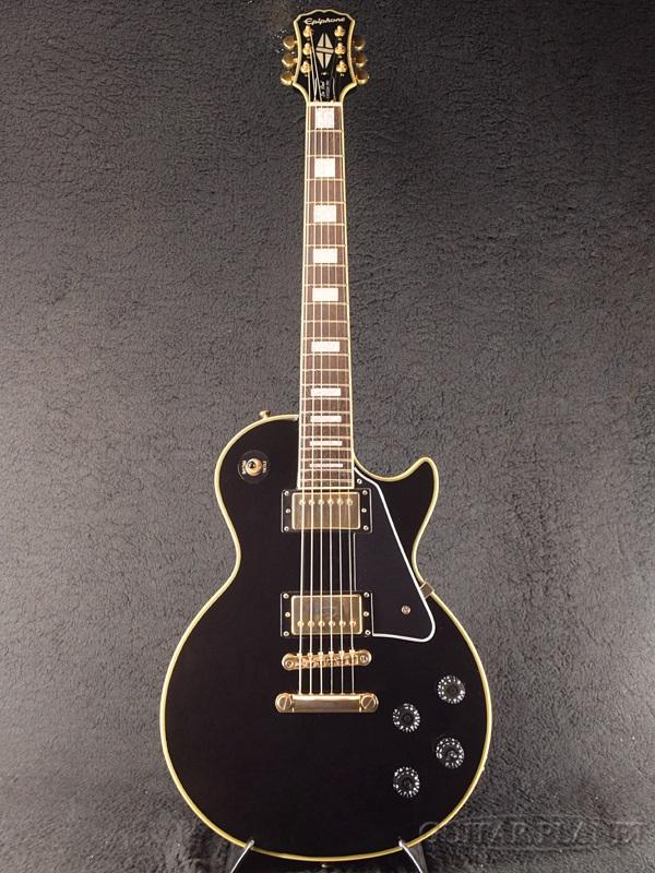 【中古】Epiphone Les Paul Custom Pro -Ebony- 2016年製【コイルタップ機能付き!!】[エピフォン][Black,エボニー,ブラック,黒][レスポール][カスタム][Electric Guitar,エレキギター]【used_エレキギター】