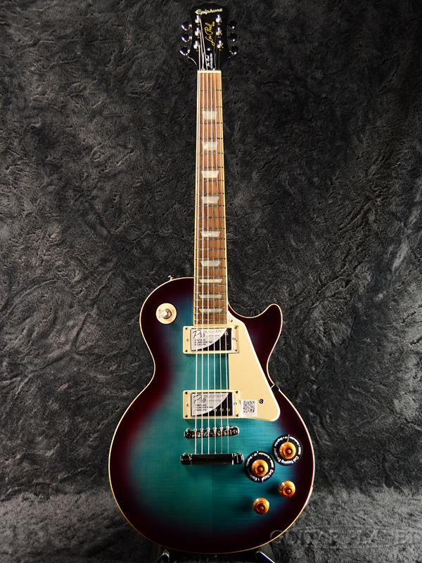 Epiphone Les Paul Standard Plus-top Pro w/Coil Tap 新品 ブルーベリー[エピフォン][レスポールスタンダード][Blueberry,青,木目][LP STD][エレキギター,Electric Guitar]_nl