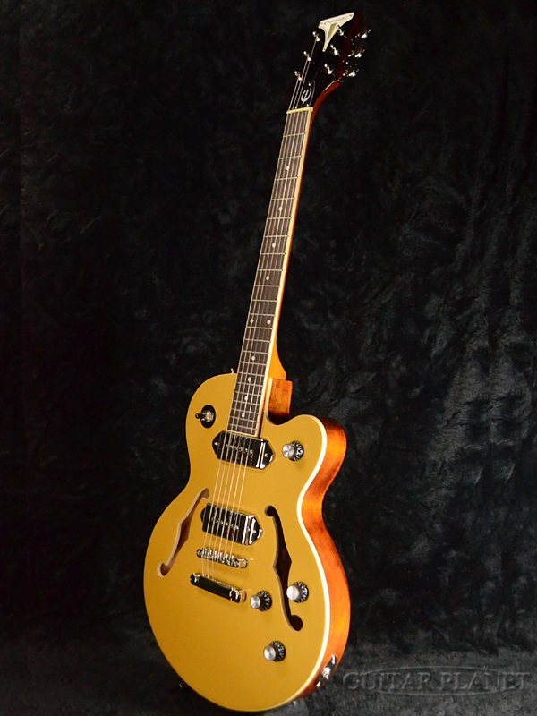 Epiphone Wildkat Studio-Metallic Gold-新货[Epiphone][粗野的猫演播室][有金属特性的黄金,钱][semiako][P90,P-90][电子吉他,Electric Guitar]