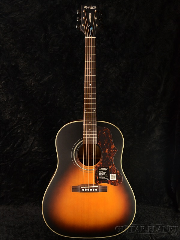 guitar planet brand new epiphone masterbuilt aj 45me epiphone aj45 vintage sunburst. Black Bedroom Furniture Sets. Home Design Ideas