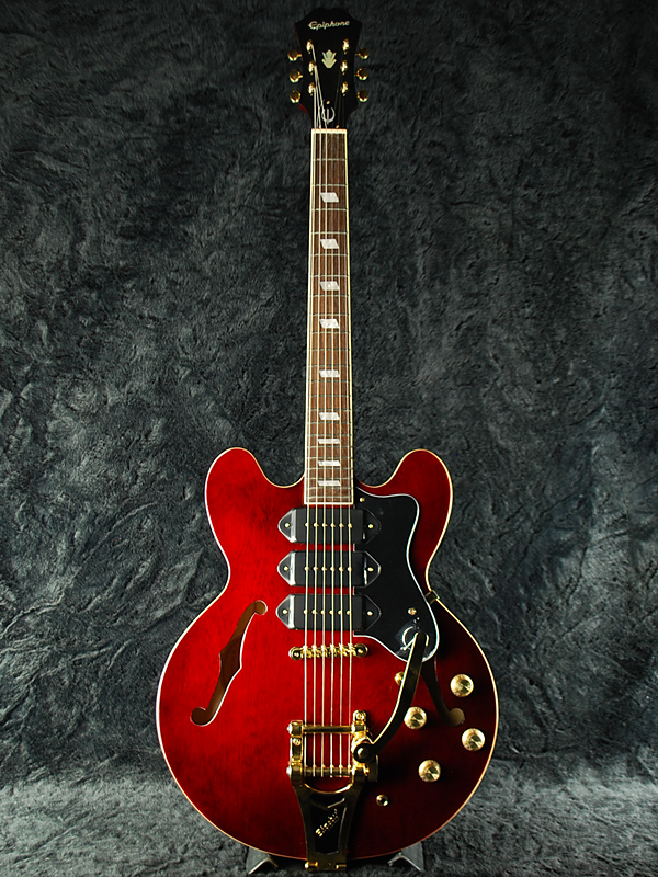 Epiphone Riviera Custom P-93 新品 ワインレッド [エピフォン][リビエラ][Wine Red,赤][セミアコ][エレキギター,Electric Guitar][P93,P-90,P90]