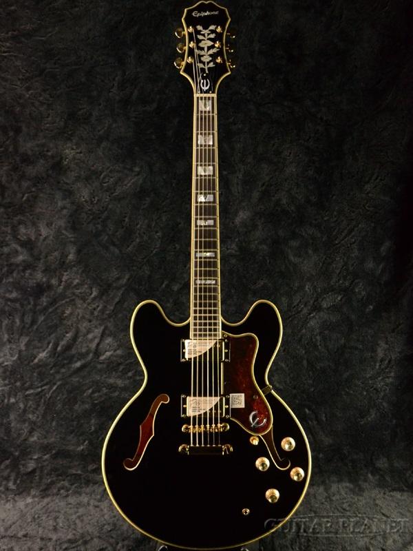 Epiphone Sheraton II Pro EB 新品 エボニー[エピフォン][シェラトン][プロ][Ebony,Black,ブラック,黒][セミアコ][エレキギター,Electric Guitar]