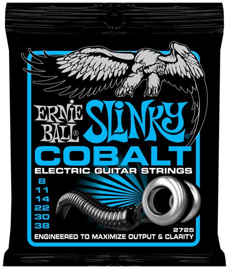 【12セット】ERNIE BALL 08-38 #2725 Cobalt Extra Slinky[アーニーボール][コバルト][エクストラスリンキー][エレキギター弦,String]