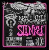 【12セット】ERNIE BALL 9-42 #3123 Coated Super Slinky[アーニーボール][コーティング弦][スーパースリンキー][エレキギター弦,string]