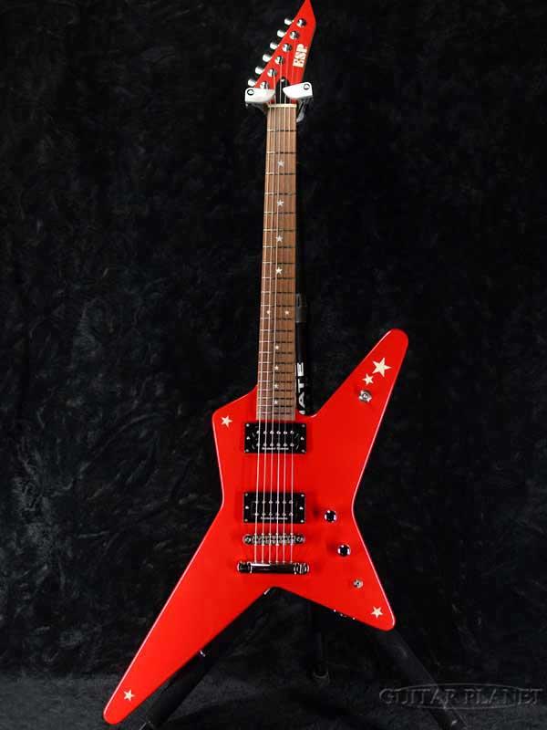 【美品中古】ESP RANDOM STAR Kasumi -LED- -Kasumi Red- 2017年頃製[ESPブランド][BanG Dream,バンドリ][Poppin'Party,ポピパ][戸山香澄][Electric Guitar,エレキギター]【used_エレキギター】