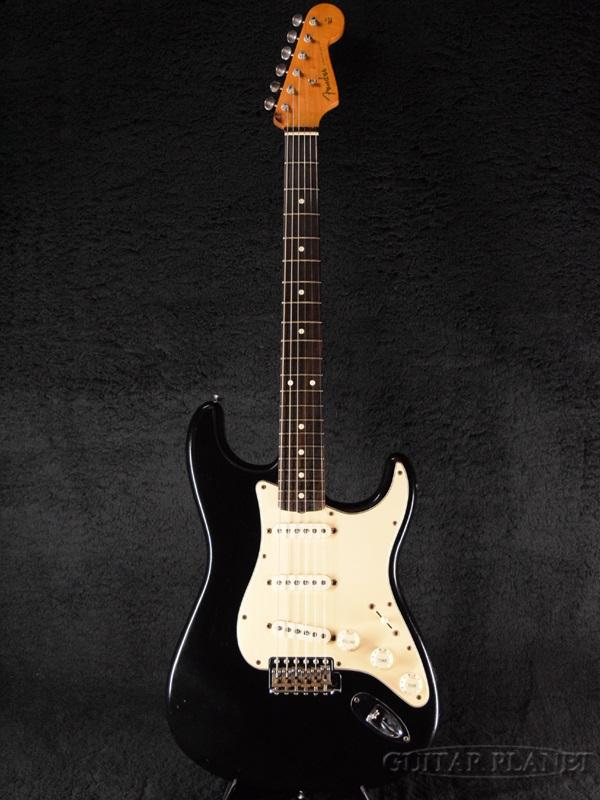 【中古】Fender USA American Vintage '62 Stratcaster Thin Lacquer -Black / Rosewood- 2004年製[フェンダー][アメリカンヴィンテージ][ブラック,黒][ストラトキャスター][Electric Guitar,エレキギター]【used_エレキギター】