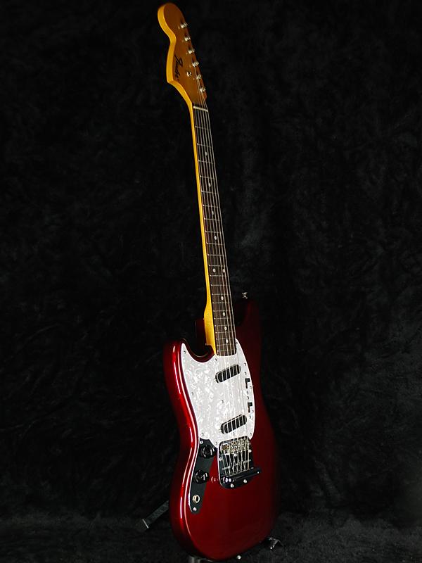 需要确认Fender Japan MG69 LH左撇子的人OCR老糖果苹果红[挡泥板日本][北美野马,Mustang][Old Candy Apple Red,红][左撇子,Left Hand,Lefty][电子吉他,Electric Guitar]