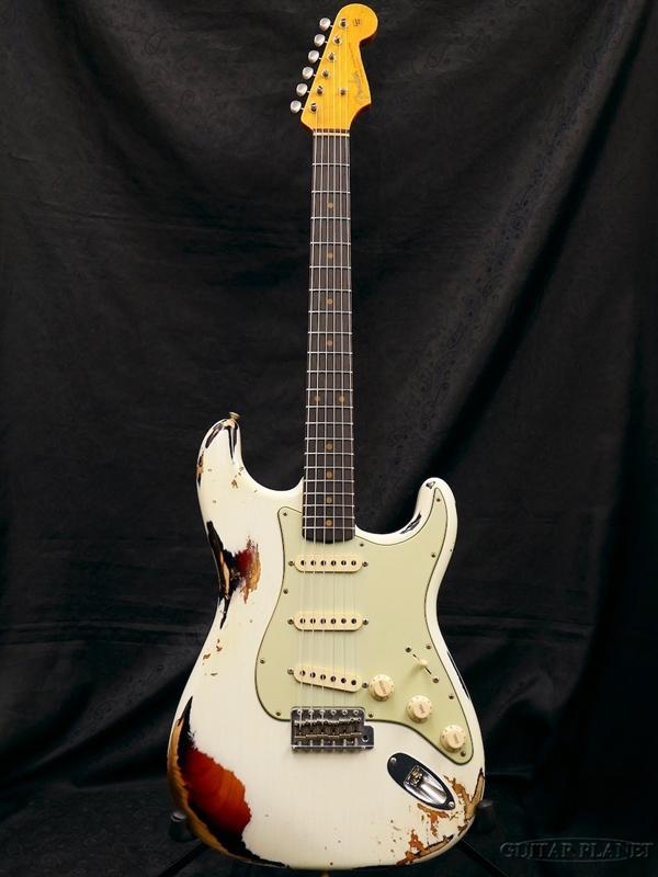 Fender Custom Shop ~2018 NAMM LIMITED #140~ 1962 Stratocaster FLASH-COAT Heavy Relic -Olympic White Over Sunburst- 新品[フェンダーカスタムショップ][ストラトキャスター][オリンピックホワイトオーバーサンバースト][Electric Guitar,エレキギター]