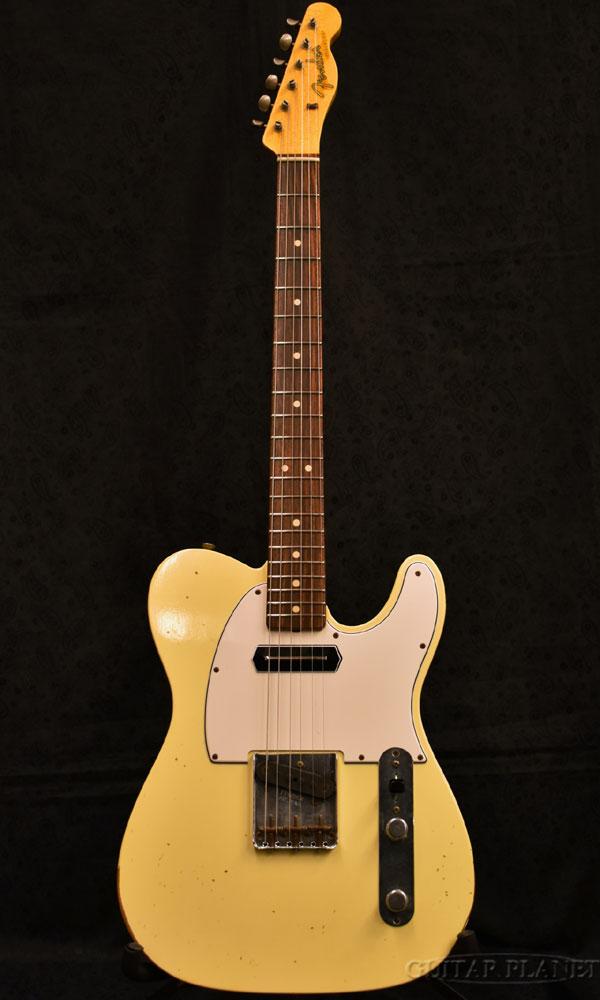 【中古】Fender Custom Shop TBC 1963 Telecaster Relic MOD with Abby's PU! -Faded Vintage White- 2013年製[フェンダーカスタムショップ][クリスフレミング][テレキャスター][ヴィンテージホワイト][Electric Guitar,エレキギター]【used_エレキギター】