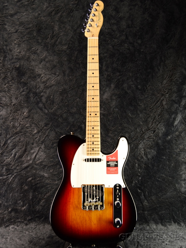 Fender USA American Professional Telecaster 3CS/M 新品 《レビューを書いて特典プレゼント!!》[フェンダー][アメリカンプロフェッショナル][テレキャスター][3-Color Sunburst,3カラーサンバースト][Electric Guitar,エレキギター]