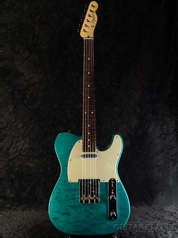 【レビューを書けば送料当店負担】 Fender FSR Made In Japan Hybrid 60s Telecaster Quilt Top / Transparent Green 新品[フェンダージャパン][ハイブリッド][トランスグリーン,緑][テレキャスター][Electric Guitar,エレキギター], OCRES d19bcac2