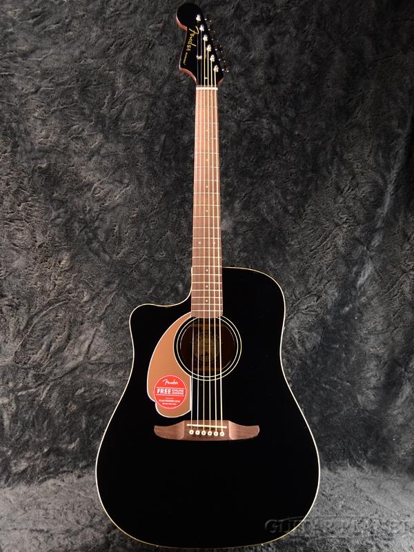 Jetty Player Acoustic Left-Hand Redondo Fender 新品[フェンダー][レフトハンド,左利き][ブラック,黒][Electric Guitar,アコースティックギター,アコギ,エレアコ] Black