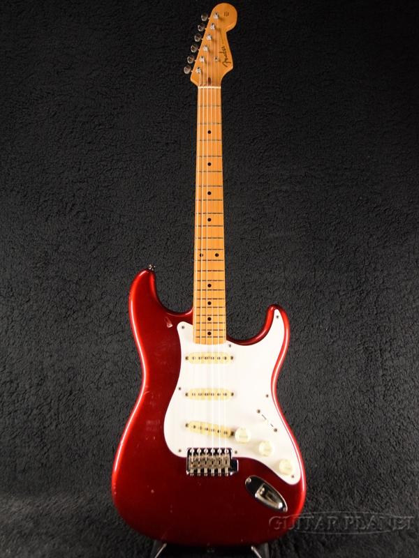 【中古】Fender Japan ST57-55 -CAR (Candy Apple Red)- 1985年製[フェンダージャパン][キャンディアップルレッド,赤][Stratocaster,ストラトキャスター][Electric Guitar,エレキギター][ST5755]【used_エレキギター】
