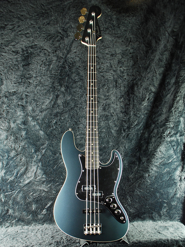 Fender Japan Exclusive Aerodyne Jazz Bass UGB(老型号:AJB)新货US炮铜蓝色[挡泥板][日本][earodain][爵士基础][US Gun metal Blue,蓝][电子吉他基础,Electric Bass]
