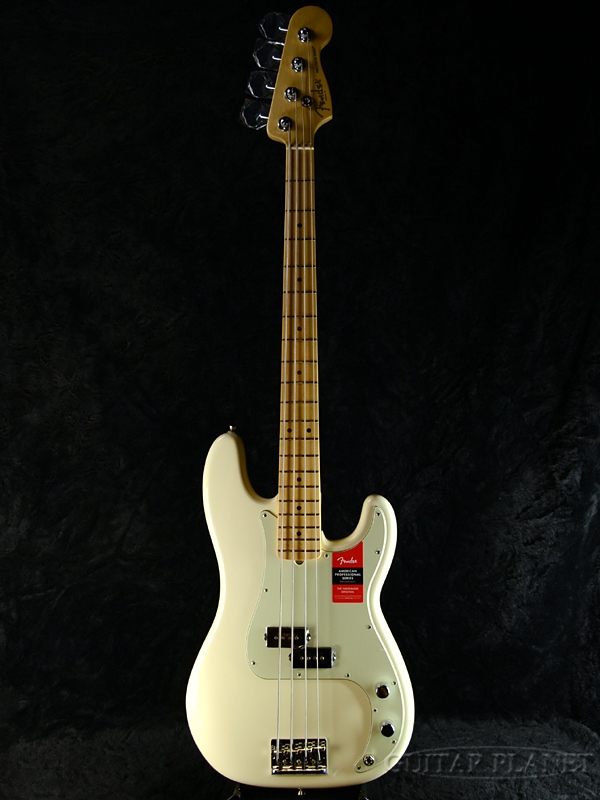 Fender USA American Professional Precision Bass Olympic White / Maple 新品[フェンダー][アメリカンプロフェッショナル,アメプロ][プレシジョンベース,プレべ][ホワイト,白][Electric Bass,エレキベース]