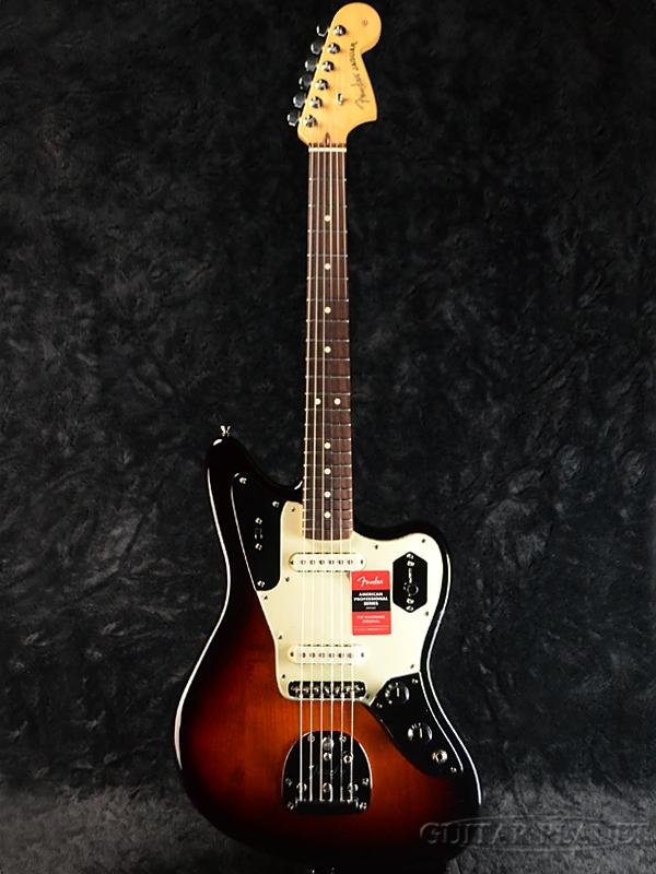 Fender USA American Professional Jaguar - 3 Color Sunburst/ Rose- 新品[フェンダー][アメリカンプロフェッショナル][サンバースト][ジャガー][Electric Guitar,エレキギター]