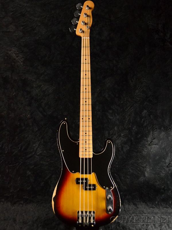 【送料無料】Fender Mexico Mike Dirnt Road Worn Precision Bass 3-Color Sunburst/M 新品[フェンダー][メキシコ][マイクダーント,Green Day,グリーンデイ][プレシジョンベース,PB][3カラーサンバースト][Electric Bass,エレキベース]