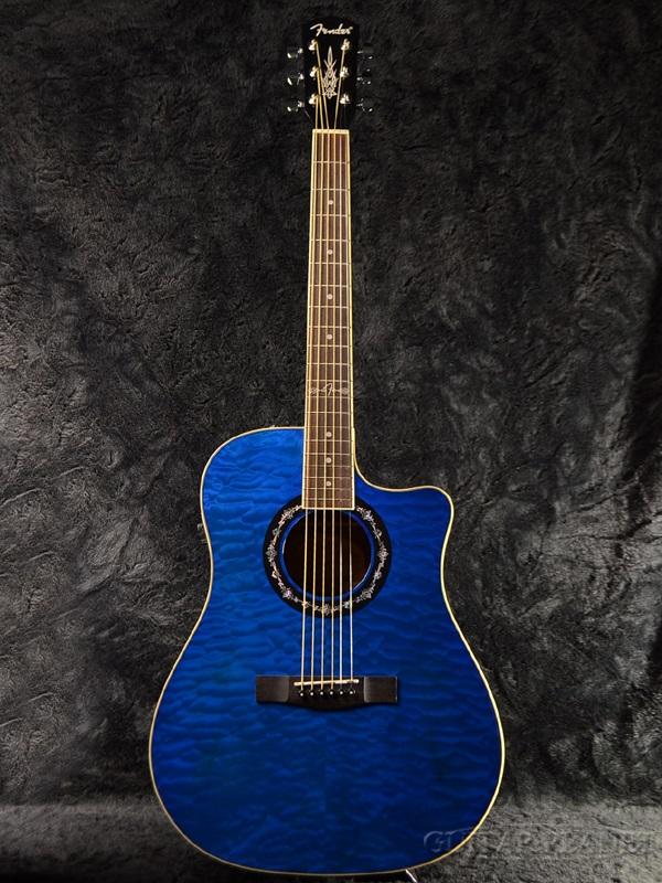 guitar planet fender t bucket 300ce qt v2 new trans blue fender transparent blue blue. Black Bedroom Furniture Sets. Home Design Ideas
