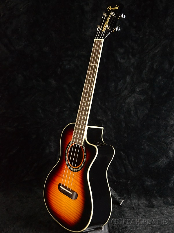 Fender T-Bucket Tenor Ukulele新货男高音尤克里里琴[挡泥板][3-Color Sunburst,3彩色太阳爆裂][ereuku]
