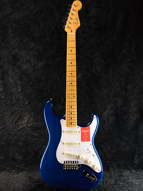 Fender Made In Japan Traditional 58 Stratocaster Sapphire Blue Transparent 新品 《レビューを書いて特典プレゼント!!》[フェンダージャパン][トラディショナル][ブルー,青][ストラトキャスター][Electric Guitar,エレキギター]