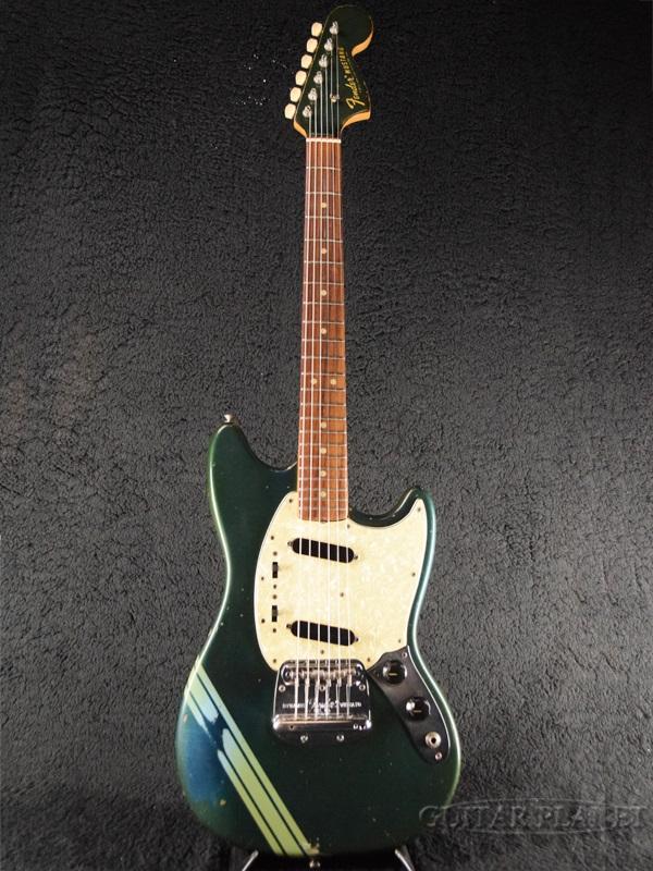 【中古】Fender USA Competition Mustang -Competition Burgandy / Matching Head- 1968-1969年製[フェンダーUSA][ムスタング][コンペティションバーガンディ,緑,青][エレキギター,Electric Guitar]【used_エレキギター】_vtg