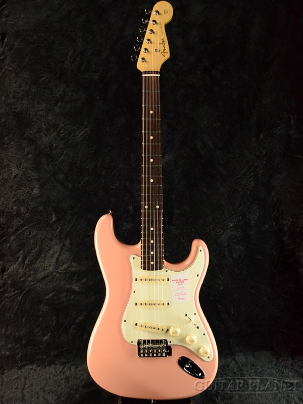 Fender Made In Japan Hybrid 60s Stratocaster Flamingo Pink 新品 《レビューを書いて特典プレゼント!!》[フェンダージャパン][ハイブリッド][フラミンゴピンク][ストラトキャスター][Electric Guitar,エレキギター]
