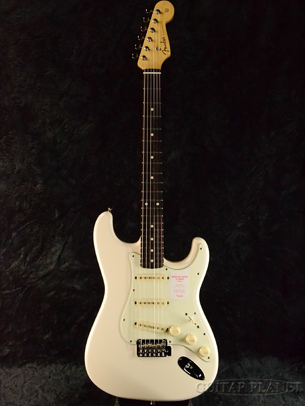 Fender Made In Japan Hybrid 60s Stratocaster Vintage White 新品 《レビューを書いて特典プレゼント!!》[フェンダージャパン][ハイブリッド][ビンテージホワイト,白][ストラトキャスター][Electric Guitar,エレキギター]