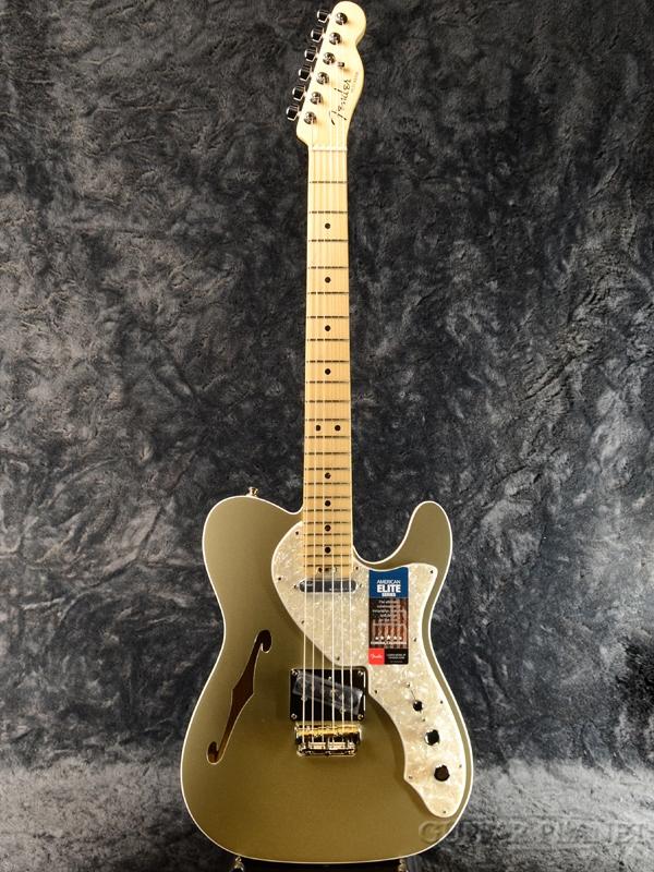Fender USA American Elite Telecaster Thinline -Champagne /Maple- 新品[フェンダー][アメリカンエリート][TL,テレキャスター][シンライン][Gold,ゴールド,金][Electric Guitar,エレキギター]