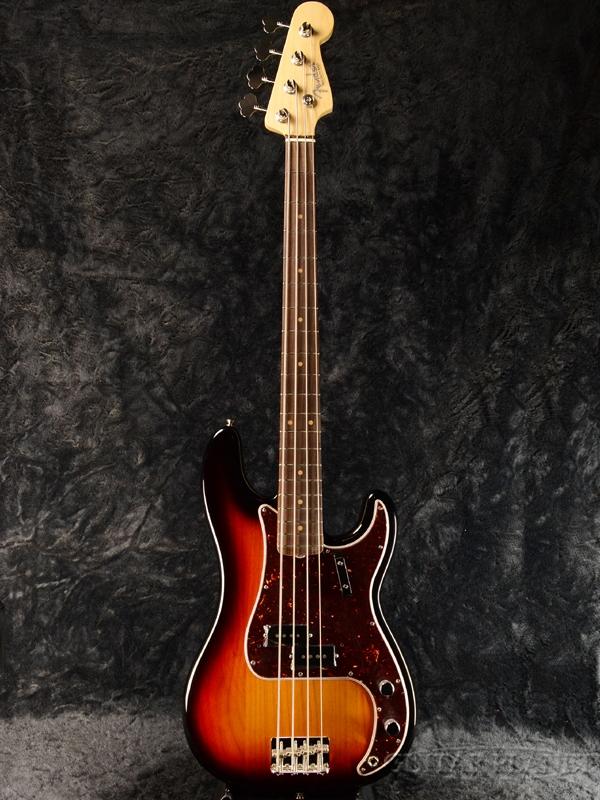 Fender USA American Original'60s Precision Bass 3-Color Sunburst 新品[フェンダー][アメリカンオリジナル][3カラーサンバースト,3CS][プレシジョンベース,プレベ,PB][Electric Bass,エレキベース]