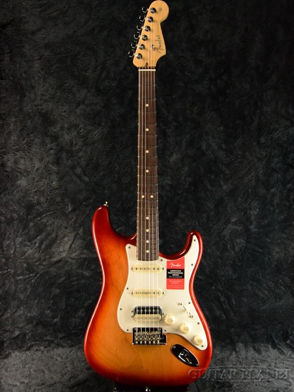 Fender USA American Professional Stratocaster HSS Shawbucker - Sienna Sunburst/ Rose- 新品[フェンダー][アメリカンプロフェッショナル,アメプロ][シエナバースト,赤][ストラトキャスター][Electric Guitar,エレキギター]