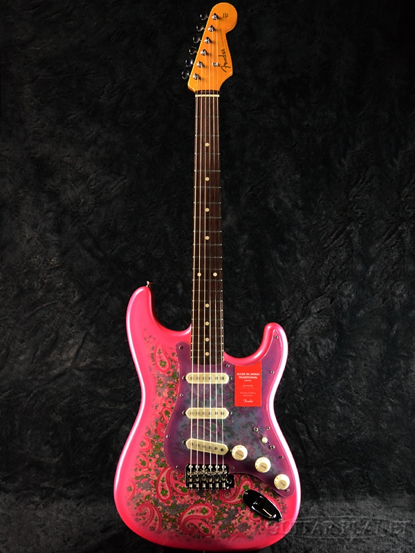 Fender Made In Japan Traditional 60s Stratocaster Pink Paisley 新品 《レビューを書いて特典プレゼント!!》[フェンダージャパン][トラディショナル][ピンクペイズリー][ストラトキャスター][Electric Guitar,エレキギター]
