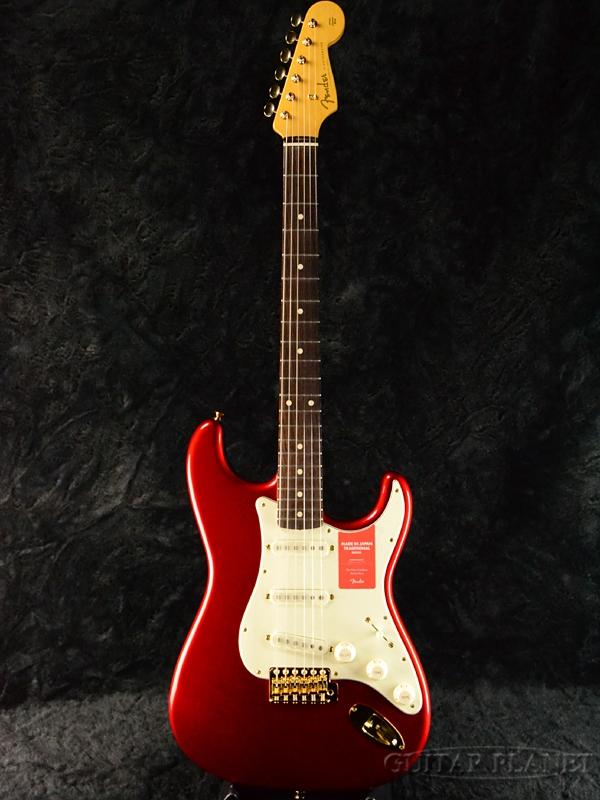 Fender Made In Japan Traditional 60s Stratocaster with Gold Hardware Candy Apple Red 新品 《レビューを書いて特典プレゼント!!》[フェンダージャパン][トラディショナル][キャンディアップルレッド,赤][ストラトキャスター][Electric Guitar,エレキギター]