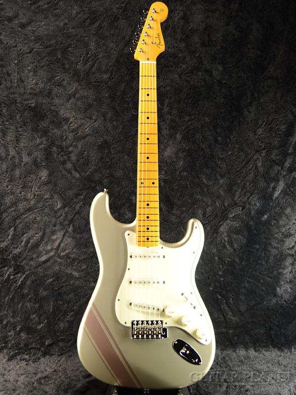 Fender Made In Japan FSR Traditional 50s Stratocaster with Competition Stripe -Inca Silver- 新品 《レビューを書いて特典プレゼント!!》[フェンダージャパン][トラディショナル][インカシルバー,銀][ストラトキャスター][Electric Guitar,エレキギター]