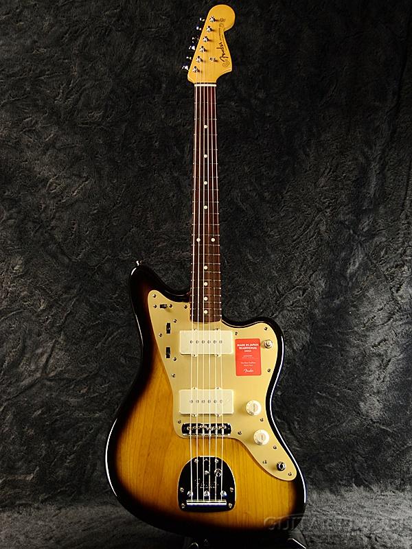 Fender Made in Japan Traditional 60s Jazzmaster Anodized -2 Color Sunburst- 新品《レビューを書いて特典プレゼント!!》[フェンダージャパン][トラディショナル][サンバースト,木目][ジャズマスター][Electric Guitar,エレキギター]