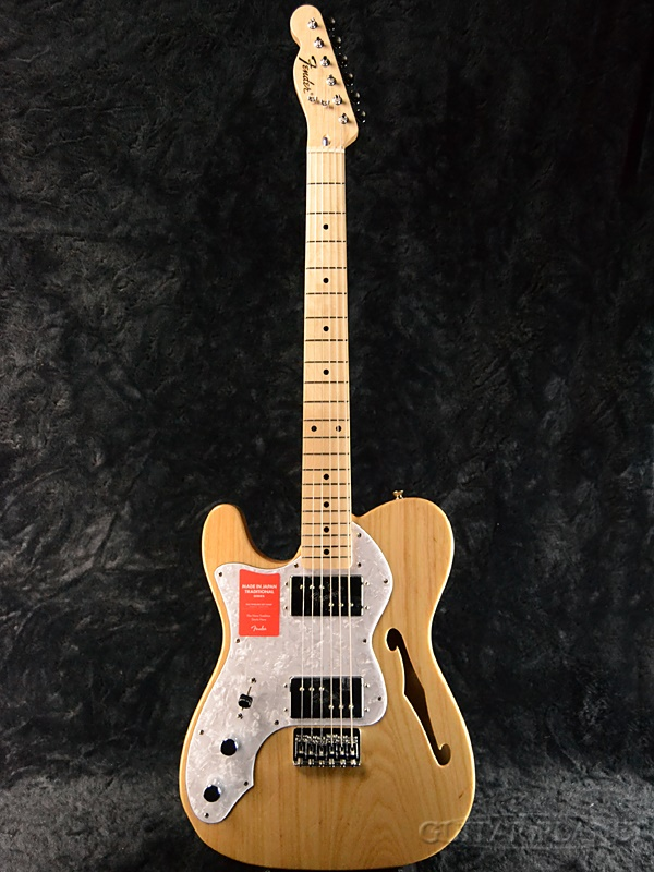 guitar planet fender made in japan traditional 70s telecaster thinline left hand natural new. Black Bedroom Furniture Sets. Home Design Ideas