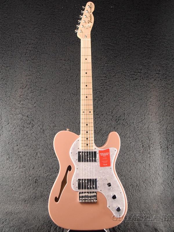 Fender Made In Japan Traditional 70s Telecaster Thinline Flamingo Pink 新品 《レビューを書いて特典プレゼント!!》[フェンダージャパン][トラディショナル][フラミンゴピンク][テレキャスターシンライン][Electric Guitar,エレキギター]