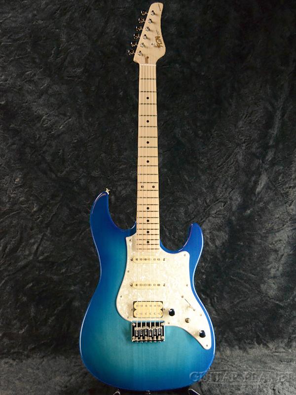 FgN BOS-M TBS 新品[フジゲン,富士弦][国産][ブルー,青][ストラトキャスタータイプ][Electric Guitar,エレキギター]